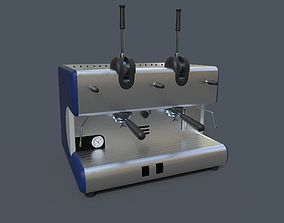 Coffee Machine 3D model game-ready PBR
