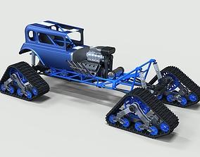 3D hotrod Hot Rod on tracks
