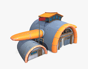 3D model Cartoon Air Hangar