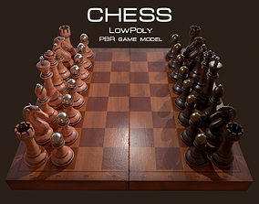 3D model Chess Set and Board