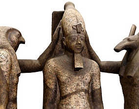 3D Egyptian King Ramses iii Statue