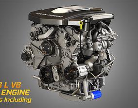 XTS Engine - V6 Twin Turbo Engine 3D