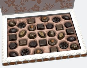 Chocolate box 3D asset animated