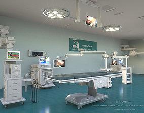 3D HOSPITAL OPERATING ROOM FULL FLOOR
