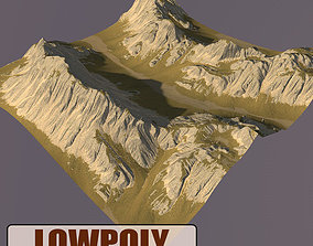 Lowpoly Mountain earth 3D asset game-ready