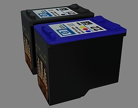 HP Printer Cartridge 3D model