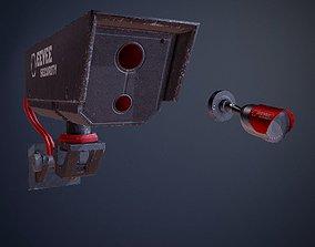 Cyberpunk Surveillance Cameras assets game-ready