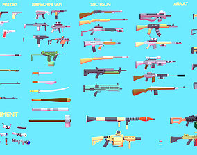 game-ready Weapons Asset Pack