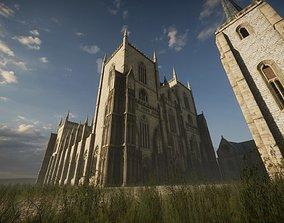 Modular Gothic Church Unity 3D model