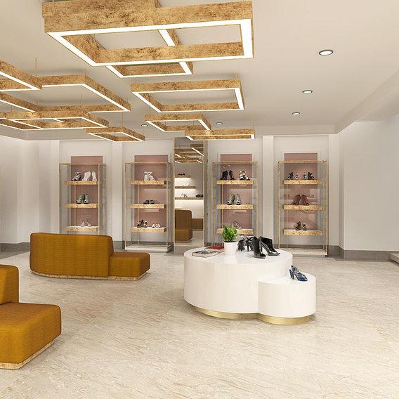 3d clothing shop design