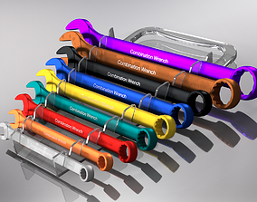 3D asset Set of combined keys metric and inch