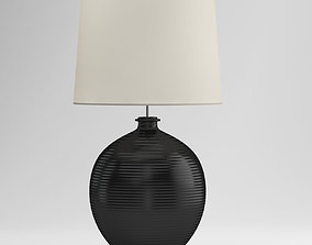 3D model Black And White Round Table Lamp chandelier