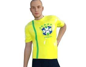 3D asset T-shirt for daz genesis 3 ready - Theme Brazil