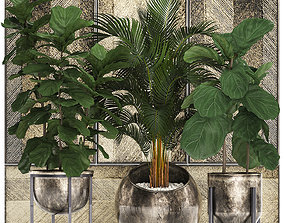 Decorative plants in flower pots for the 3D model 1
