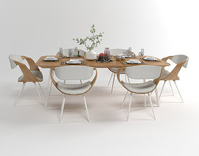 Dining furniture set 1504 3D model