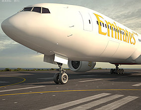 Boeing 777 seven 3D model