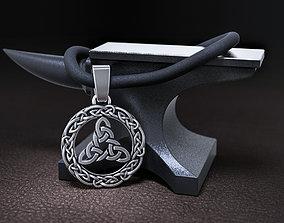 3D printable model pendant Brigit Knot