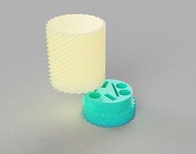 3D printable model aaa battery holder