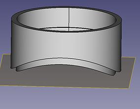 Topfhalterhalter fuer Hydroponiksystem 3D print model