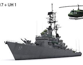 DLG 17 USS Harry E Yarnell 3D asset