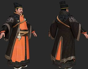 Fat officials in ancient China Jinyiwei Royal 3D model