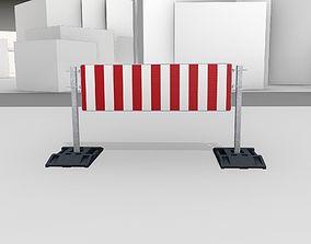 Construction Barrier Version 3 600-37 500x1600mm 3D asset