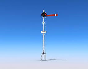 3D model realtime Railway Semaphore Signals