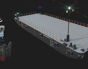 3D asset Truckable Push Boat and DAMEN STAN PONTOON 30x11