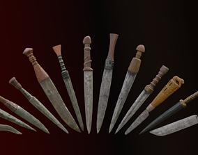 Daggers pack 3D model