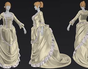 Women s Baroque Costume Marvelous Designer project 3D