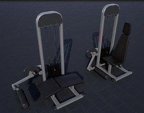 Leg Extension Curl Machine 3D model
