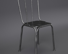 3D model Metal chair with welds Nordal
