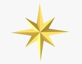 3D model Gold star Christmas