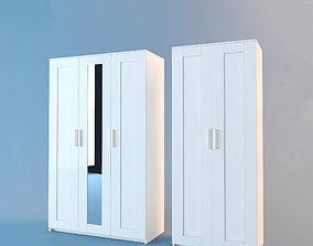 3D model Ikea Brimnes wardrobes