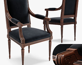 3D model Chair Louis XVI A