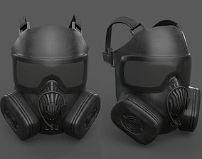 Helmet gas mask 3D model