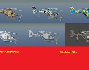 Helicopter ec135 special forces with Extra 6 3D model