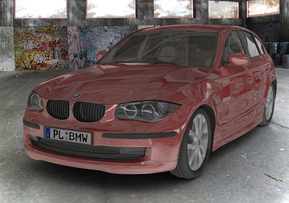 BMW series 1 E87 in abandoned Warehouse