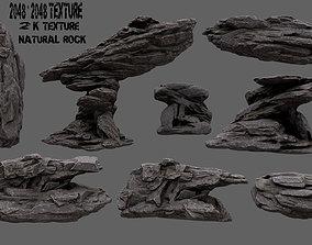 Rock Set 3D model stone