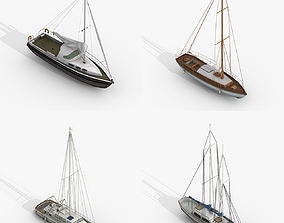 3D model Sailboats Collection