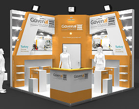 Exhibition Stand - ST0058 3D model