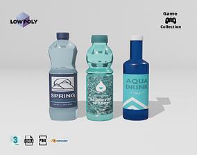 3D model Bottles of water