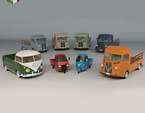 Low Poly Pickup Pack 02 3D model