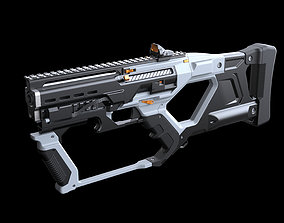 rifle 3D Concept sci fi weapon5