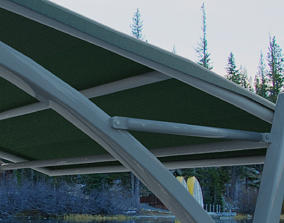 3D model car shelter