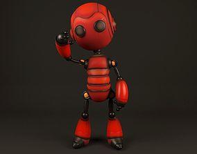 Red Robot 3D asset