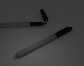 3D asset Black markers
