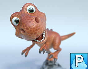 Cartoon t-rex 3D model