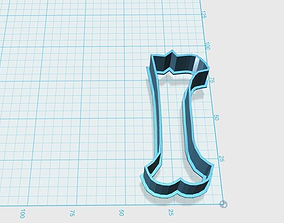 3D printable model Vintage number 1 cookie cutter