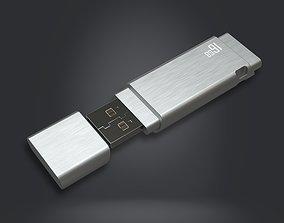 3D asset USB Flash Data Traveler - RC - Game Ready